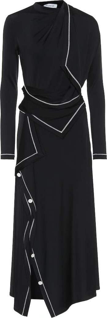 Monse Asymmetric jersey midi dress