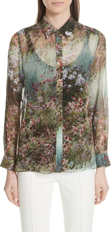 Max Mara Selim Print Silk Blouse