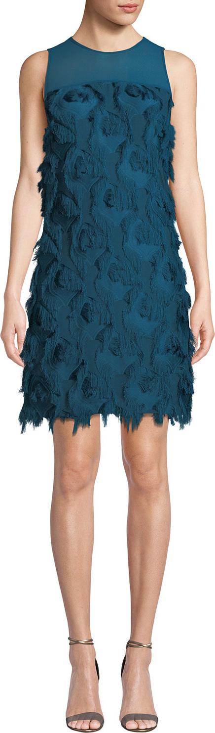 MICHAEL MICHAEL KORS Feather Textured Shift Dress