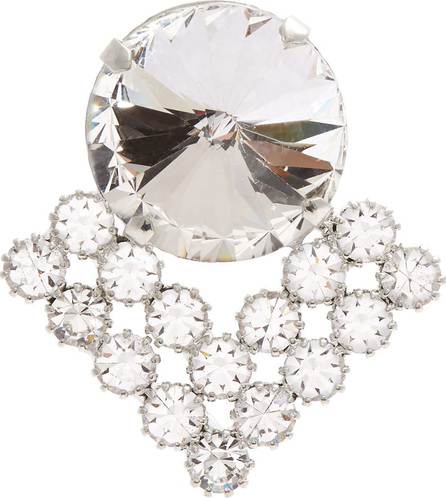 Alessandra Rich Crystal-embellished pin brooch