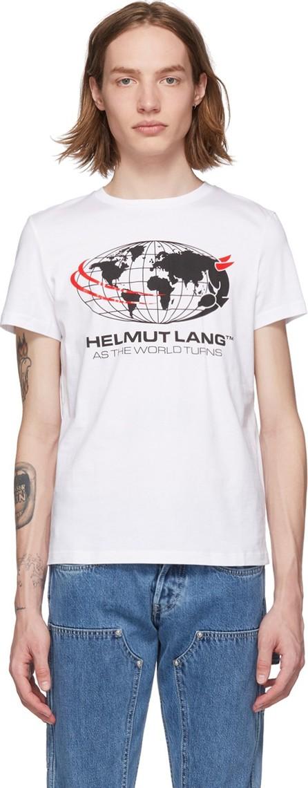 Helmut Lang White 'World Turns' T-Shirt