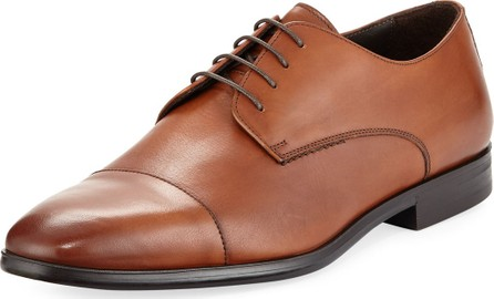 A. Testoni Leather Cap Toe Derby Shoe