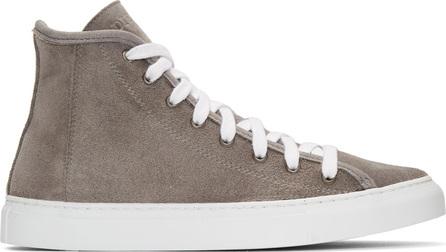 Diemme Grey Suede Veneto Alto Sneakers