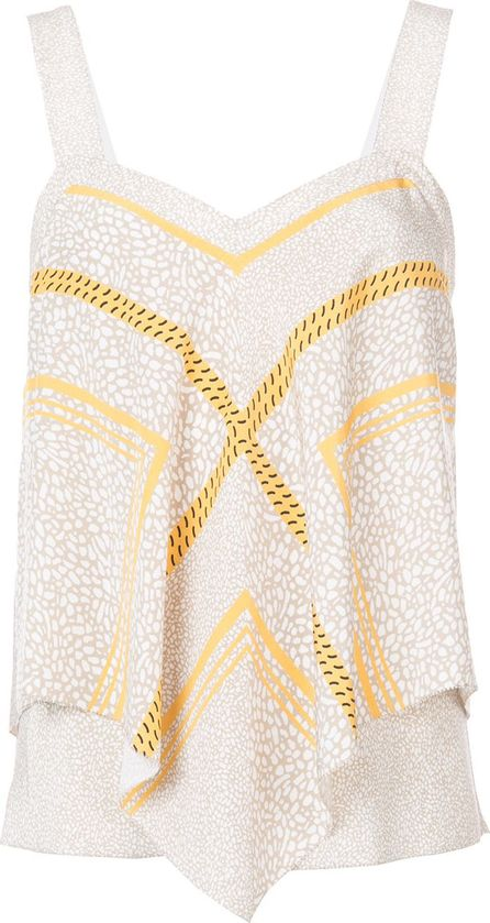 Derek Lam 10 Crosby embroidered flared tank top
