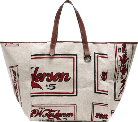 J.W.Anderson Printed linen tote