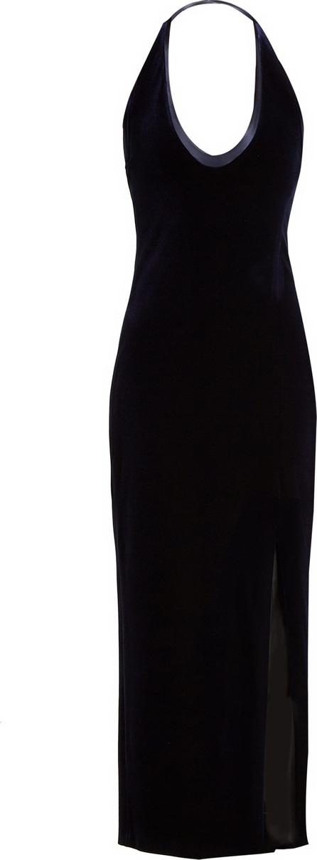 Galvan Ellipse scoop-neck velvet dress