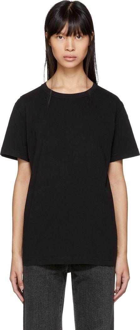 Helmut Lang Black Ring Detail T-Shirt