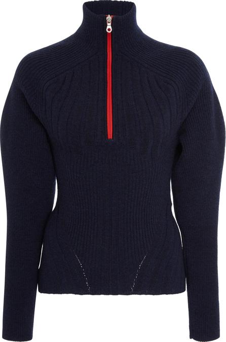 Sportmax Balta Ribbed-Wool-Blend Turtleneck Sweater