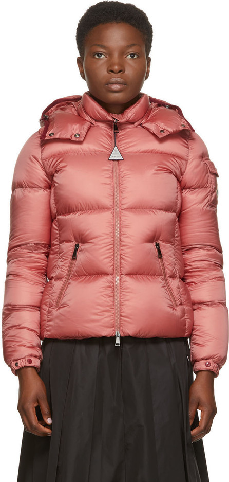 Moncler Pink Down Fourmi Coat