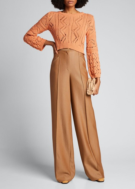 Jonathan Simkhai Madelyn Directional Rib Cropped Sweater