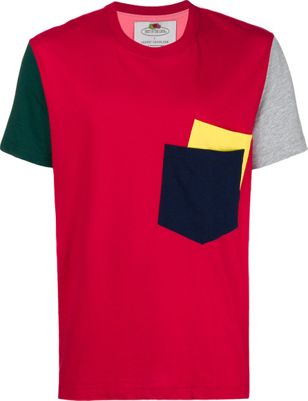 Cedric Charlier Colourblock pocket tee