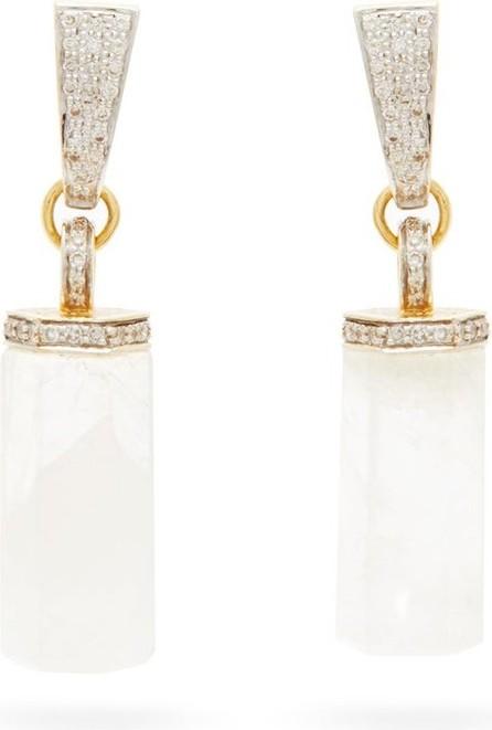 Jade Jagger Moonstone, diamond & 18kt gold drop earrings