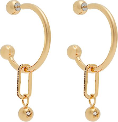 Burberry London England Hoop and crystal-embellished pendant earrings