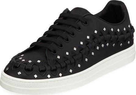 Alaïa Whipstitched Studded Platform Sneakers