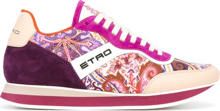 Etro multiple prints lace-up sneakers