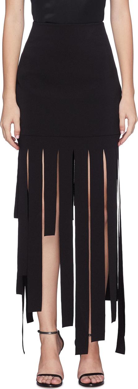 Carmen March Strappy fringe piqué skirt