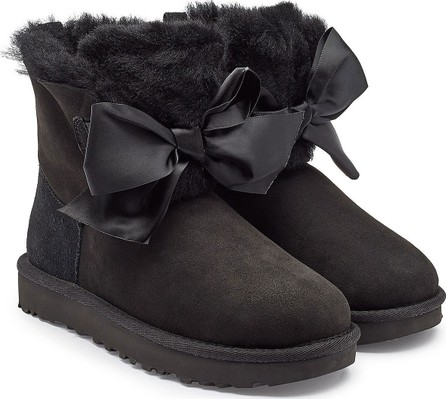 UGG Gita Bow Suede Boots with Shearling
