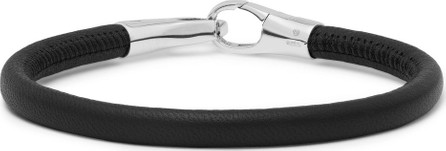 Bottega Veneta Leather and Sterling Silver Bracelet