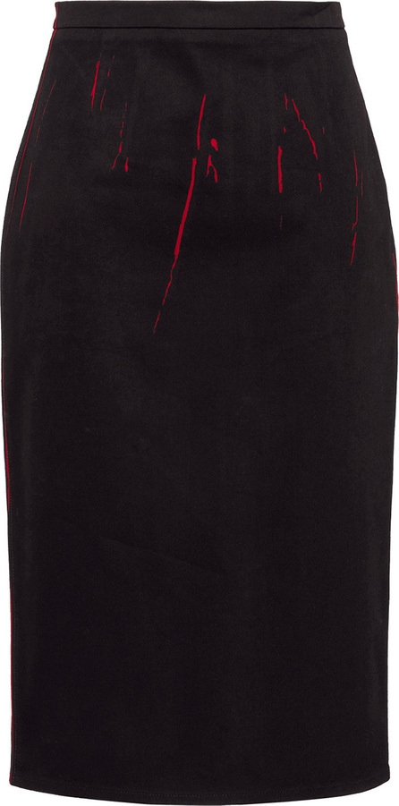 Prada Overprinted pencil skirt