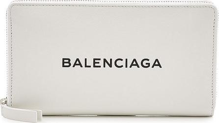 Balenciaga Continental Zipped Leather Wallet