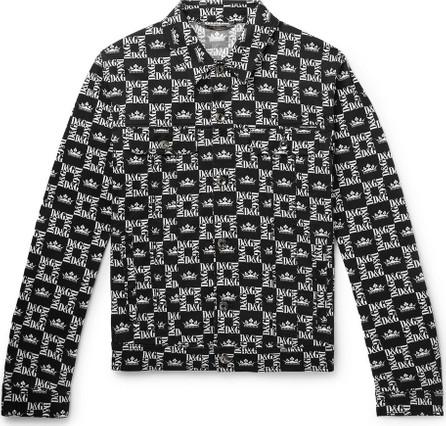 Dolce & Gabbana Slim-Fit Printed Denim Jacket