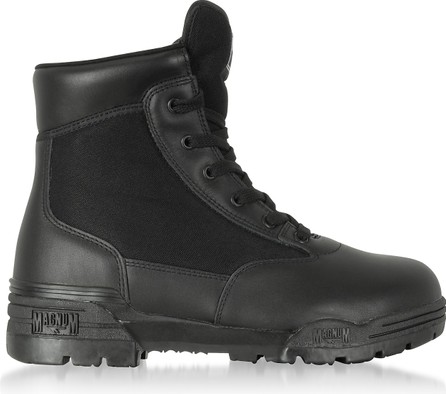 Hi-Tec Hi-Tec Magnum 6 Classic Black Mesh and Leather Unisex Boots