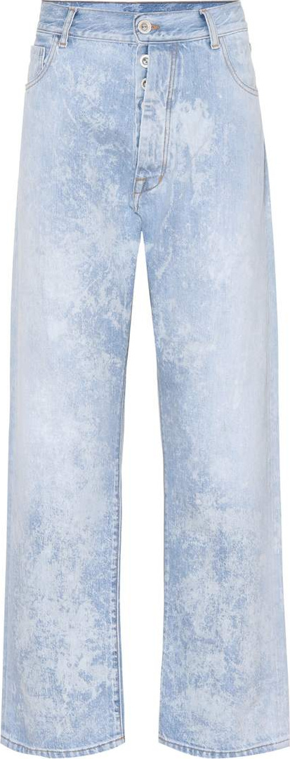 Unravel Mottle wide-leg jeans