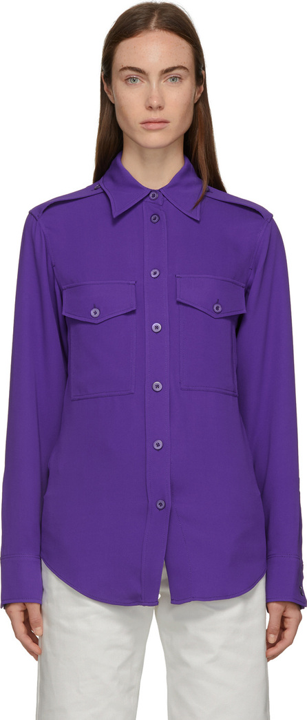 Joseph Purple Silk Rainer Shirt