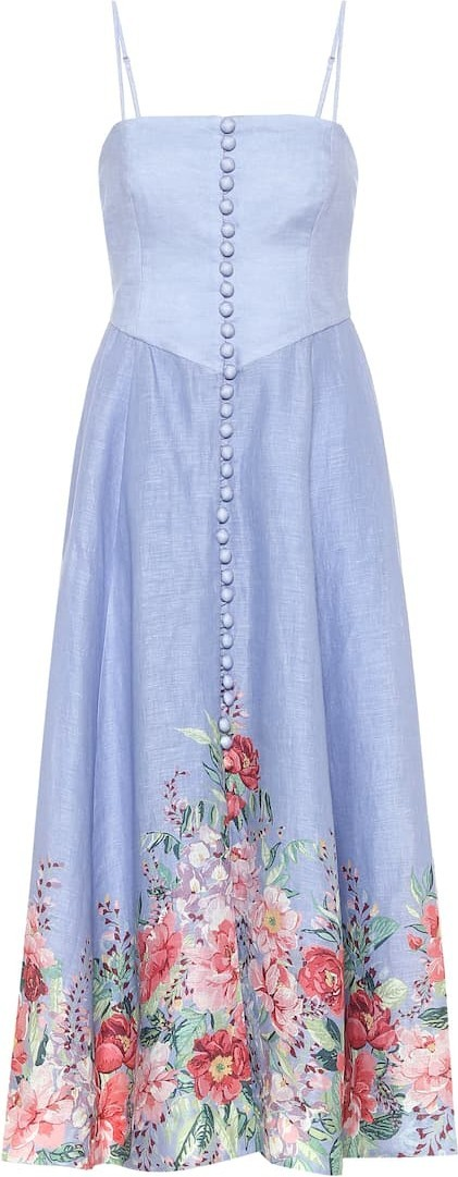 Zimmermann Bellitude floral linen midi dress