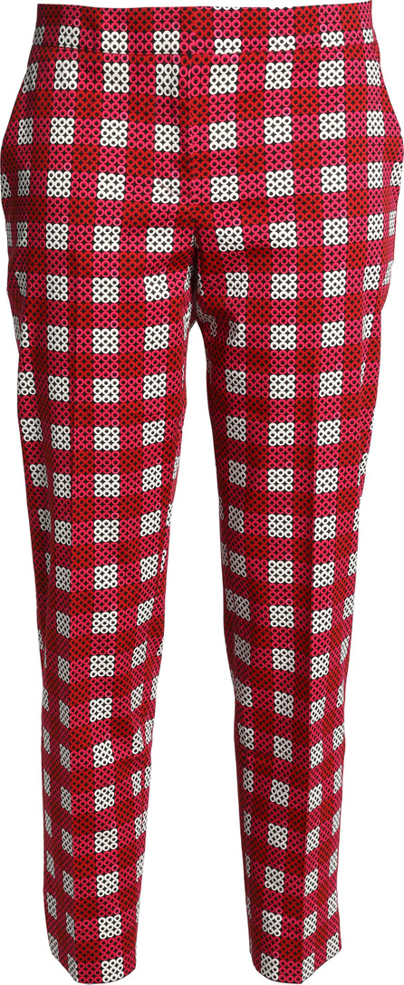 Mary Katrantzou Amra cropped printed stretch-cotton tapered pants