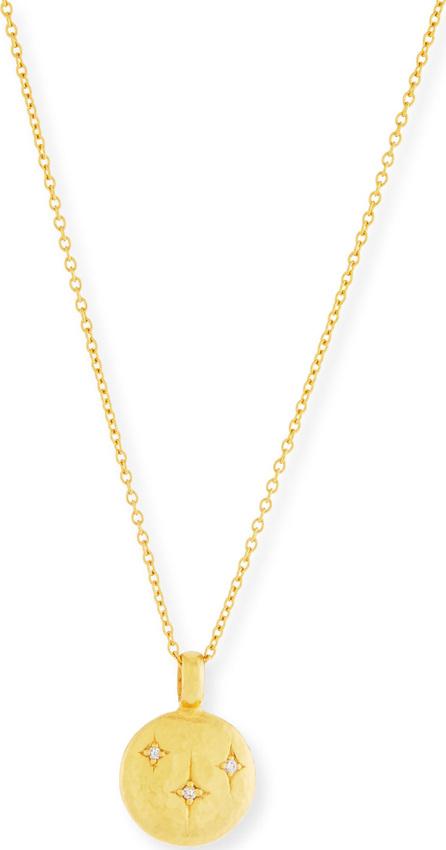 GURHAN 24k Three-Diamond Starlight Pendant Necklace