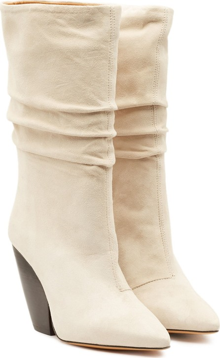 IRO Cristobal Suede Ankle Boots with Leather