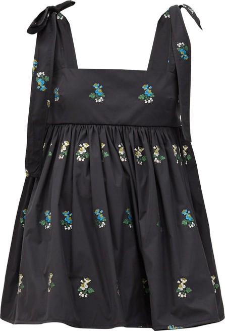 Cecilie Bahnsen Hawthorn floral-embroidered poplin top