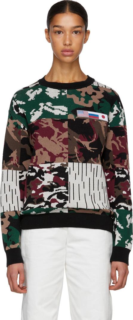 Gosha Rubchinskiy Red Camo Jacquard Knit Sweater