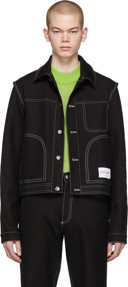 Daniel W. Fletcher Black Denim Contrast Stitch Jacket