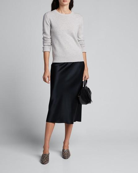 Joseph Isaak Silk Satin Midi Skirt