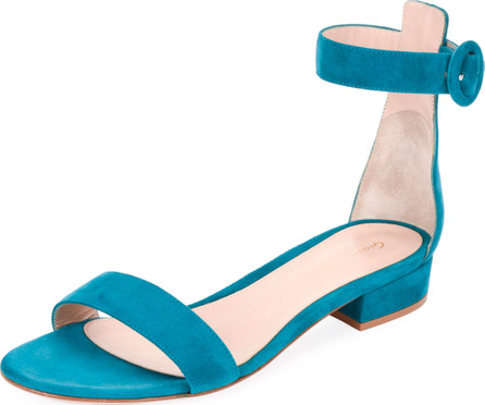 Gianvito Rossi Portofino Suede Ankle-Wrap 20mm Sandals