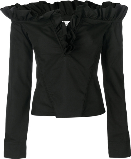 Marques'Almeida Off the shoulder ruffle blouse