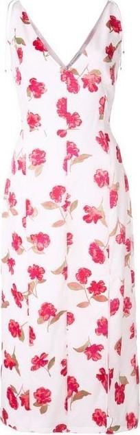 Altuzarra Ilaria V Neck Floral Midi Dress