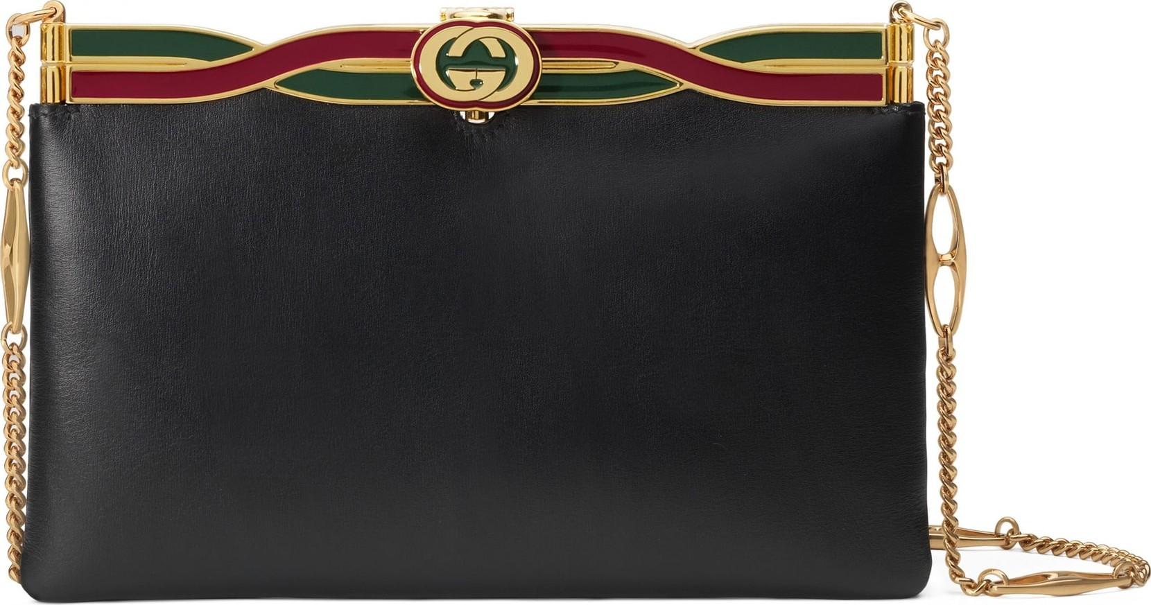 Gucci Broadway Logo Frame Leather Shoulder Bag - Mkt 6d0d595fba2bc