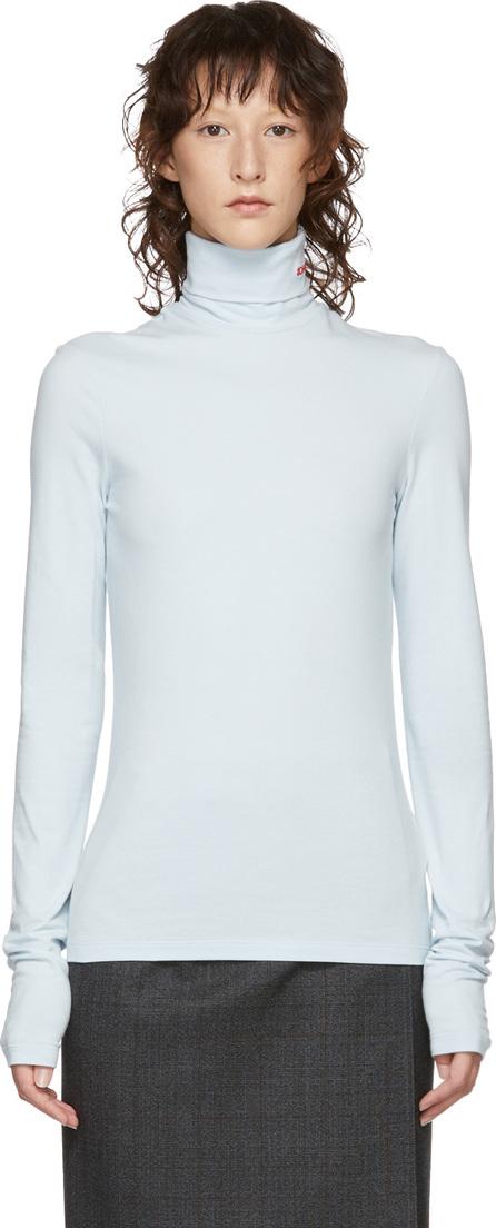 Calvin Klein 205W39NYC Blue Logo Turtleneck
