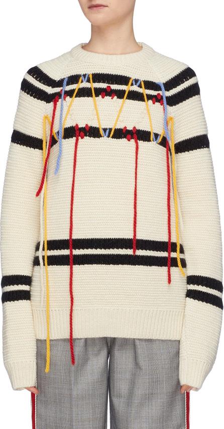 Calvin Klein 205W39NYC Fringe stripe sweater