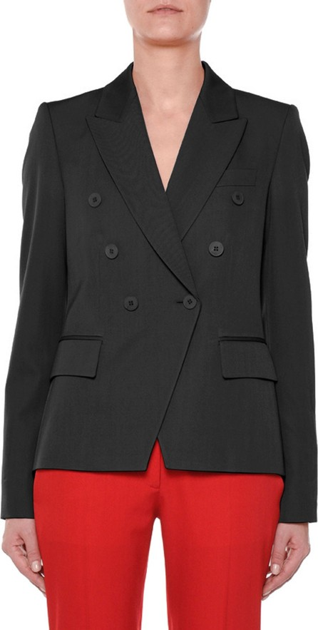 Stella McCartney Faux Double-Breasted Tailored Wool Blazer