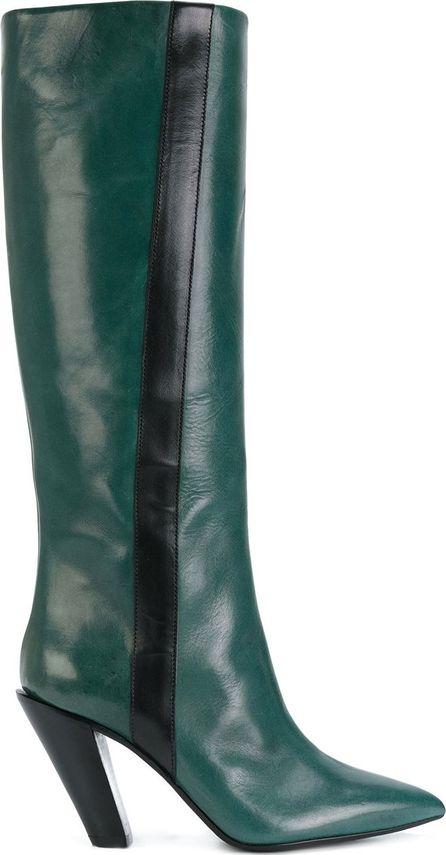 A.F.Vandevorst slanted heel knee-high boots