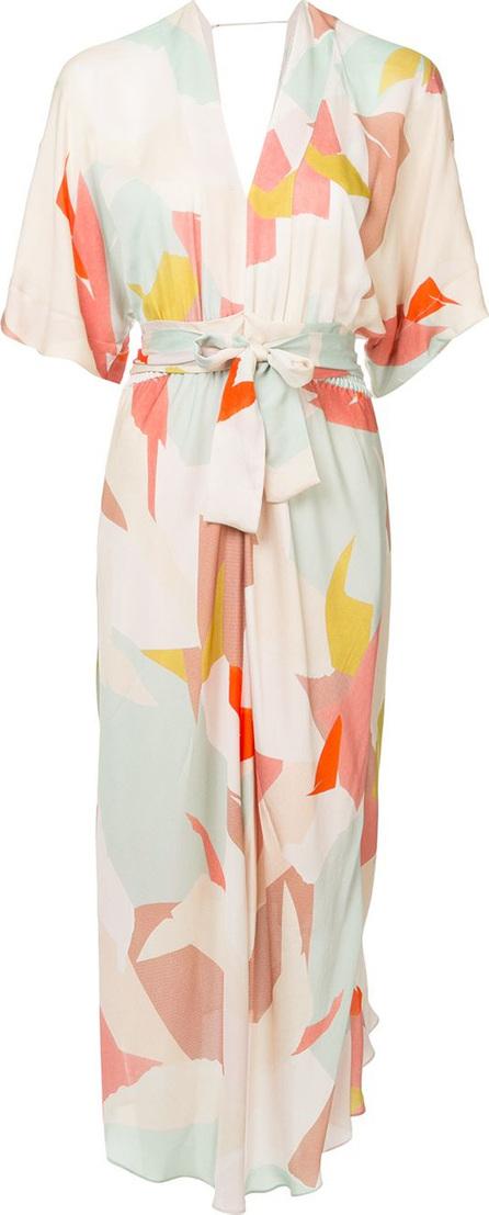 GINGER & SMART Print Converge belted dress