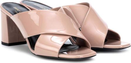 Saint Laurent LouLou 70 patent leather sandals