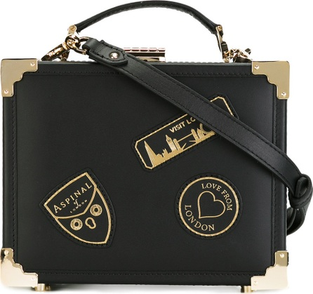 Aspinal of London box bag with faux-patches