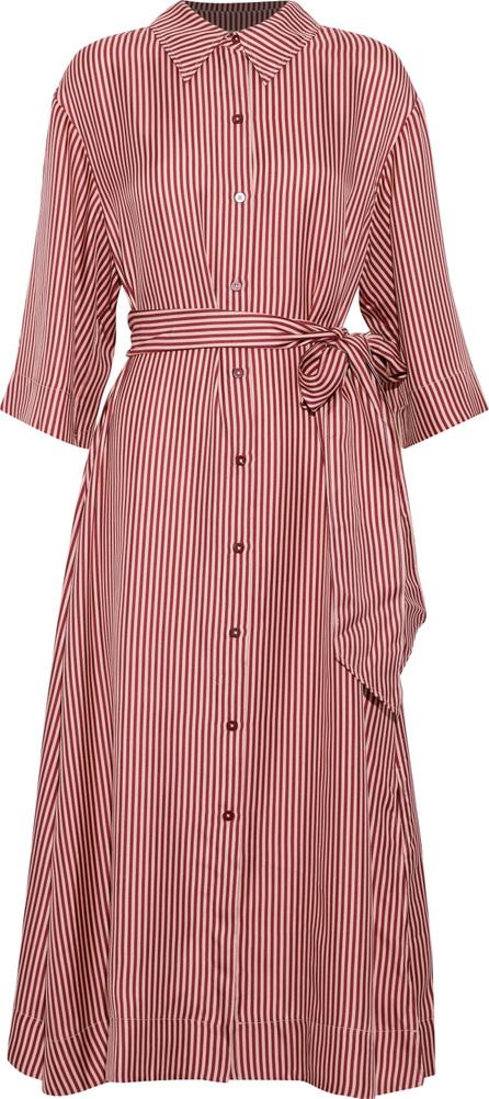 DIANE von FURSTENBERG Belted striped silk-twill midi dress