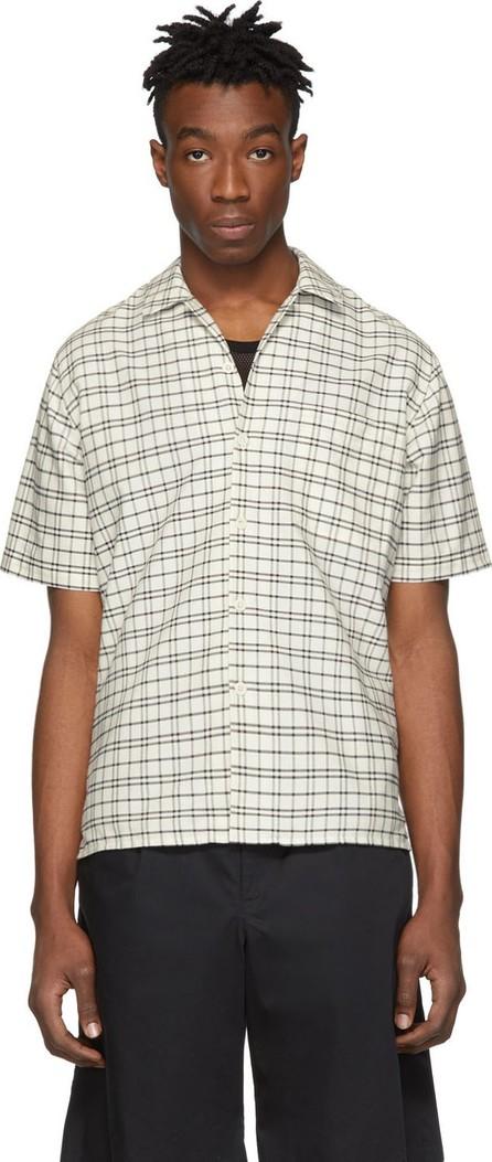 AMI Off-White & Black Check Shirt