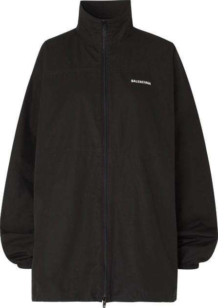 Balenciaga Printed embroidered cotton-poplin jacket